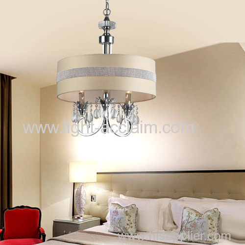Fabric shade round pendant lamp hanging light fixtures contemporary pendant lighting