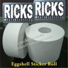 White Vinyl Egg Shell Sticker Paper