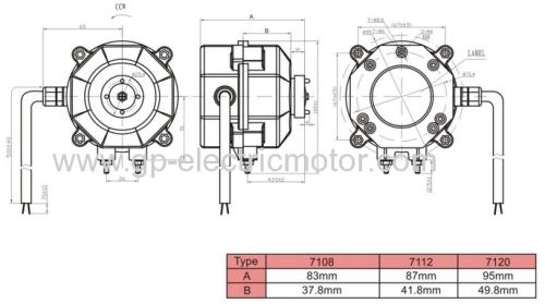 220v Small AC Condenser Refrigerator Fan Motor