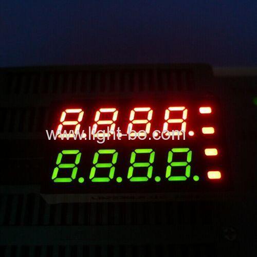 Benutzerdefinierte Super Red & Super Green 8-stellige 7 mm (0.28) 7-Segment-LED-Anzeige für die Temperaturanzeige
