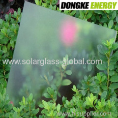 Solar glass Low-iron Patterned Glass for solar panel