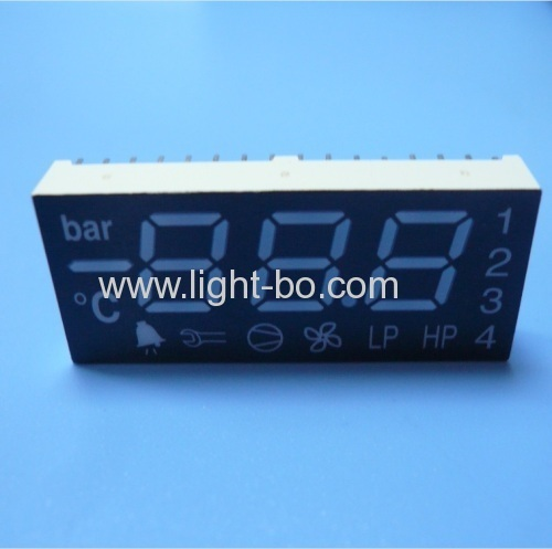 China 3 1/2 digit common anode super bright green/yellow/red 7 segment led display for refrigerator control.