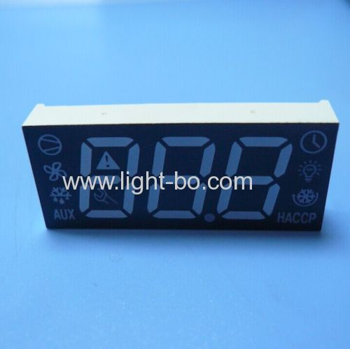 China Triple digit common anode super bright green/yellow/red 7 segment led display for refrigerator control.