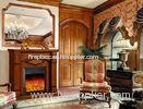 House Furniture Solid Wooden Fireplace , Freestanding Electric Fireplace Heater