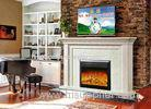 Bedroom European 1.5m Electric Imitation Marble Fireplace Heater 750W - 1500w