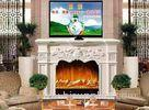Indoor Wooden Remote Control Electric Fireplaces TV Stands European Style