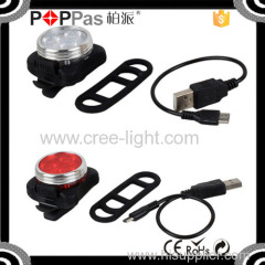 2015NEW arrival POPPAS S620 High Brightness Reachargeble LED Tail light USB bicycle basket light