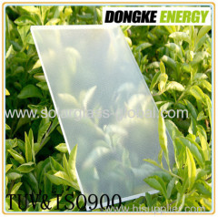 Low Iron tempered Solar Glass 4.0mm