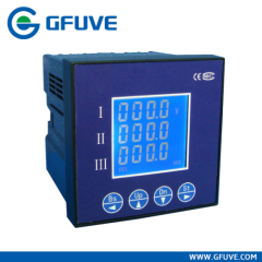 THREE PHASE CURRENT AND VOLTAGE DISPLAY METER