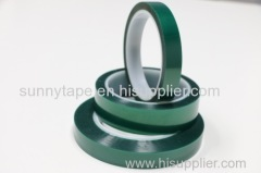 Heat Resistant Silicone Adhesive PET Film Green Polyester Tape