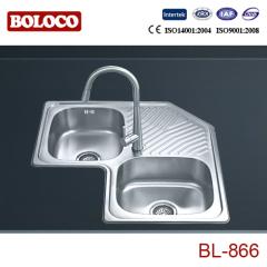 Europe Middle&High Polish/Satin/Ele-pearl Welding Corner Sink 304# BL866