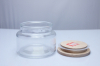 Best Selling Glass Candle Jar with Dome Metal Lid&Wooden Lid