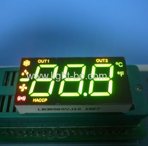 Custom multicolor 3-Digit 0.5  7-segment LED Display for heating and cooling