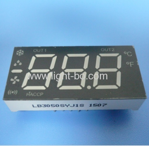 Custom Design multicolour 3 1/2 digit 7 segment led display for Refrigerator Control