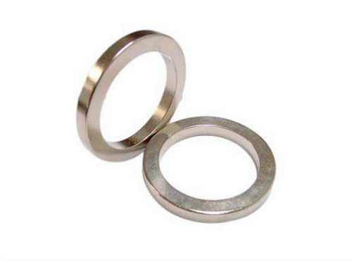 Iso Certificate Permanent Nickle Coating Ring With A Hole N42 Grade NdFeB Magnets