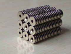 Neodymium Magnet With Holes / Ndfeb N35 Magnets Ring Shape