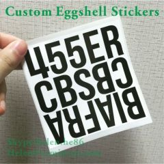 Permanent Adhesive Destructible Vinyl Eggshell Sticker