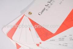 Round corner staple binding texture paper board book