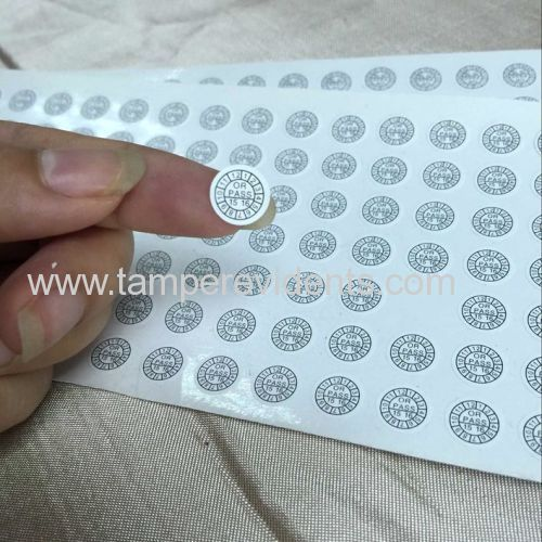 Small round label dia 5mm security sticker calibration show high qality and strict quality control of