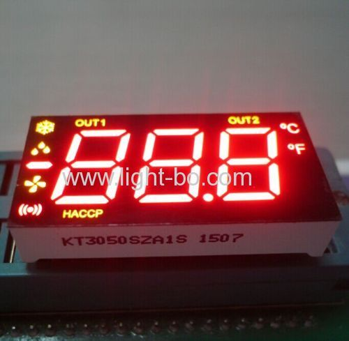 Customized  Blue 0.5  triple digit led display for refrigerator control