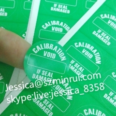 Hot Sale Professional Round Custom Destructible Warranty Void Security Sticker Labels Used in Tamper Evident