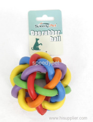 Large Size Colorful Dog Rubber Ball