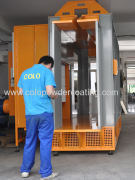 powder coating booth video