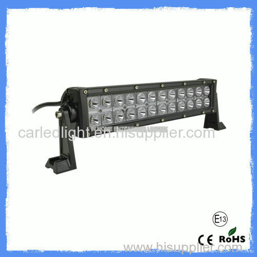 72W High Lumen Vehicle Led Light Bar 7200 LM Tight Waterproof IP67