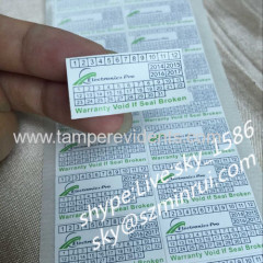 Minrui Wholesale Personalised Tamper Proof Warning Stickers Printed Date and Logo of Tamper Evident Sticker Labels