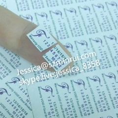 Custom Company Logo Printed Brittle Adhesive Warranty Stickers Warranty Sticker with Years and Months