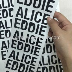 Minrui Permanent Adhesive Black Letter Printed Eggshell Sticker Paper Made from Destructible Vinyl