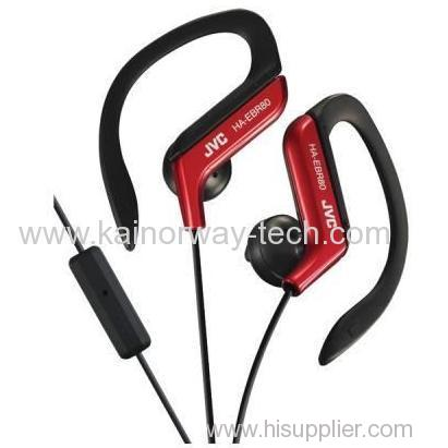 JVC HA-EBR80 Athletic Sports Clip In-Ear Ear-Clip Headphones With Mic And Remote