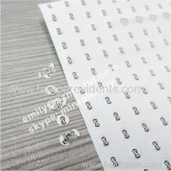 tamper proof screw logo labels for cell phones