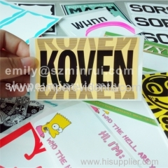 colorful custom design eggshell graffiti stickers printing