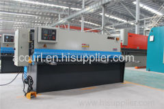 hydraulic swing beam plate guillotine cutting machine