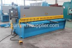 ACCURL hydraulic swing beam plate guillotine CUTTING machine
