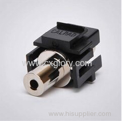 3.5mm stereo audio keystone jack
