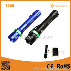 809B 3W Brightest XPE R2 Zoomable USB Power Bank Tactical Police Flashlight