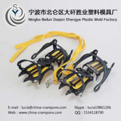 Fashion convenient ice spikes Anti-slip silicone rubber steel nail crampons