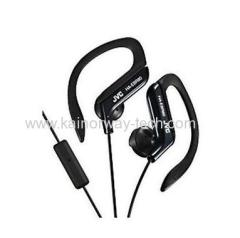 New JVC Sports Ear Clip Stereo Headphones with Remote Microphone HAEBR80 Black for iPod iPhone