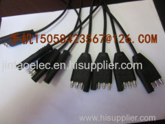 SAEpulg Bullet terminal molding power cable wire harness