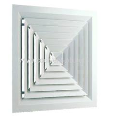 Aluminium 4-Way Square Diffuser