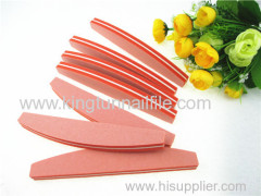 halfmoon sponge nail file orange buffer file