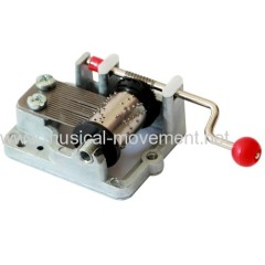 PERSONALIZED KNOB CRANK MUSIC BOX MECHANISM