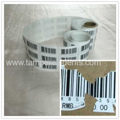 High Quality Nice Price Barcode Lables Printing Unique Number for Anti Theft Made by Minrui