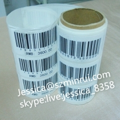 Custom Security Void Barcode Stickers Non Removable Asset tag Self Destructible Security Brittle Labels in Set with Numb
