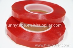 Super sticky double sided PET binding tape