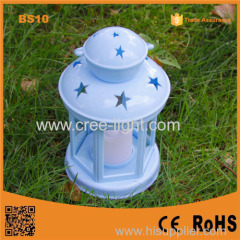 Promotion BS10 New Colorful windproof Camping lantern decorative hurricane lantern with led candle