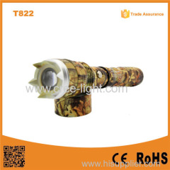 T822 Powerful Camouflage Military Swat outdoor flashlight