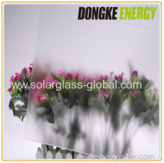 4.0mm AR coated low iron self cleaning solar glass